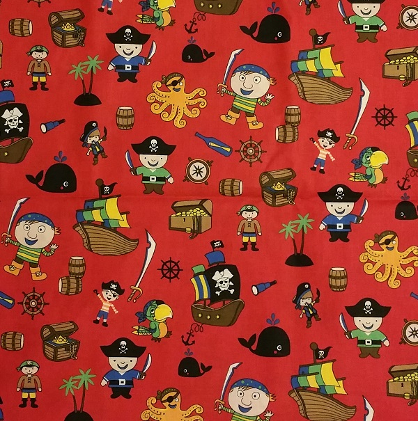 Cotton wovens for Kids pirate fabric