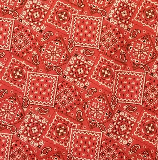 Bright Red Bandanna Squares