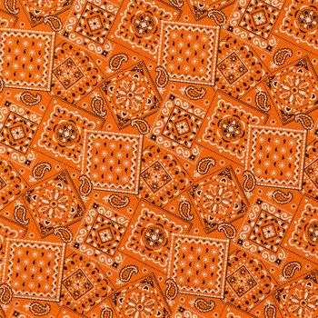 Orange Bandanna Squares